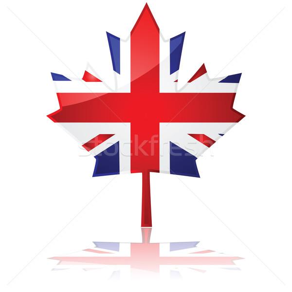 британский Maple Leaf флаг подобно Сток-фото © bruno1998