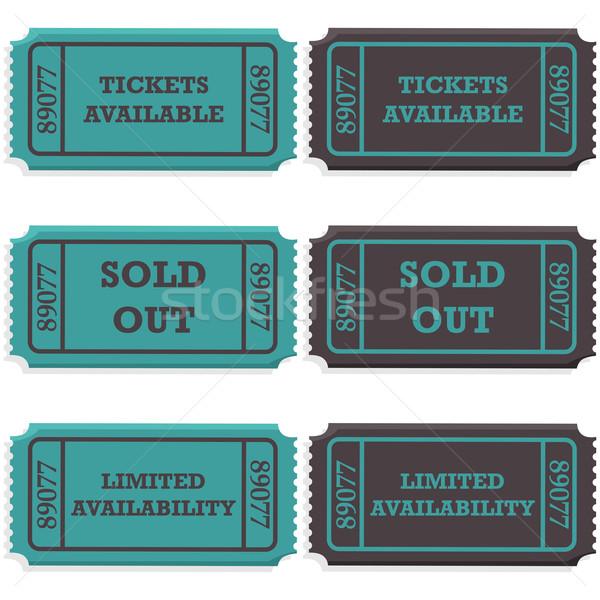 Tickets uitverkocht uit illustratie tonen ticket Stockfoto © bruno1998