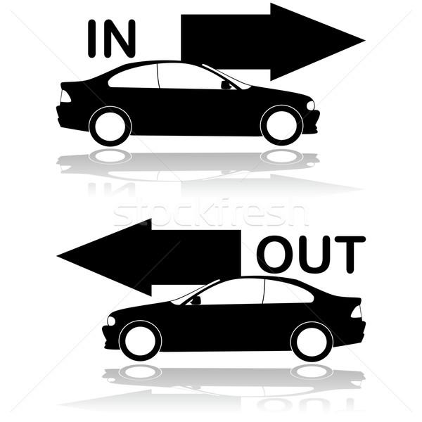 Auto entree uitgang tonen weg Stockfoto © bruno1998