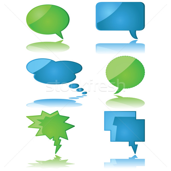 Speech and thought bubbles Stock photo © bruno1998
