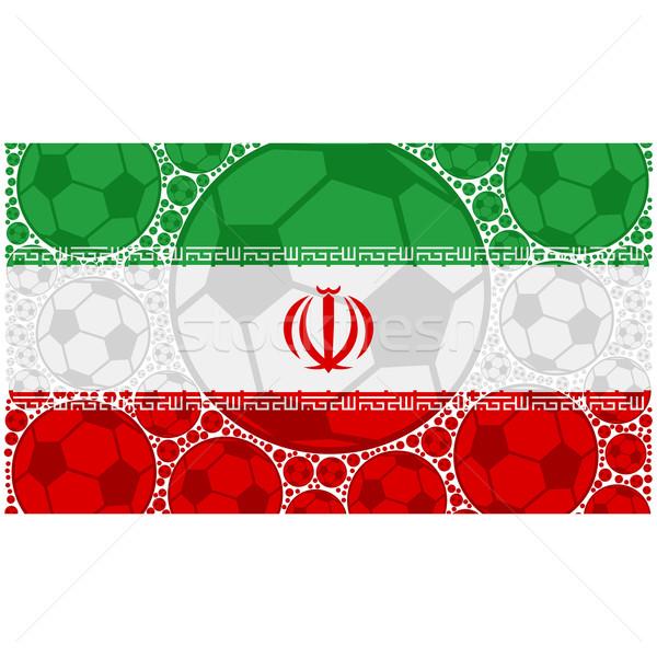 イラン サッカー 実例 フラグ ストックフォト © bruno1998