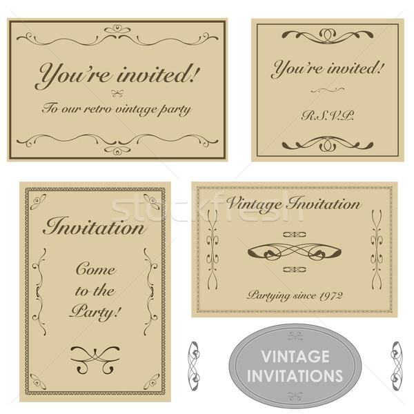 Vintage invitations Stock photo © bruno1998