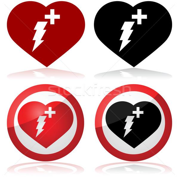 Defibrillator icon Stock photo © bruno1998