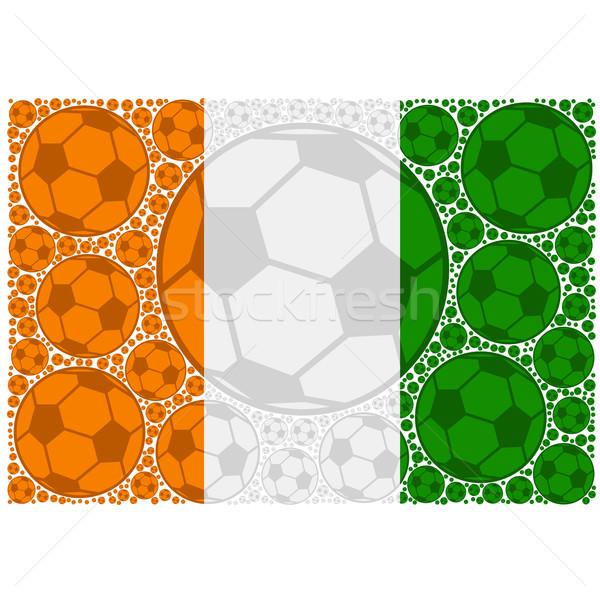 Wybrzeże Kości Słoniowej piłka nożna ilustracja banderą Zdjęcia stock © bruno1998