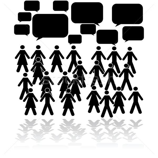 Crowd talking Stock photo © bruno1998