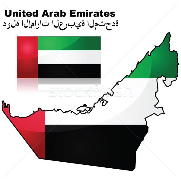 Emirados Árabes Unidos mapa bandeira abstrato luz país Foto stock © bruno1998