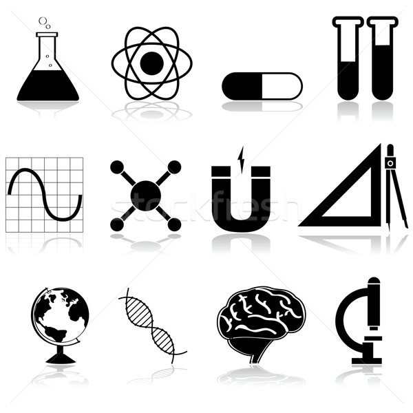 Science icons Stock photo © bruno1998