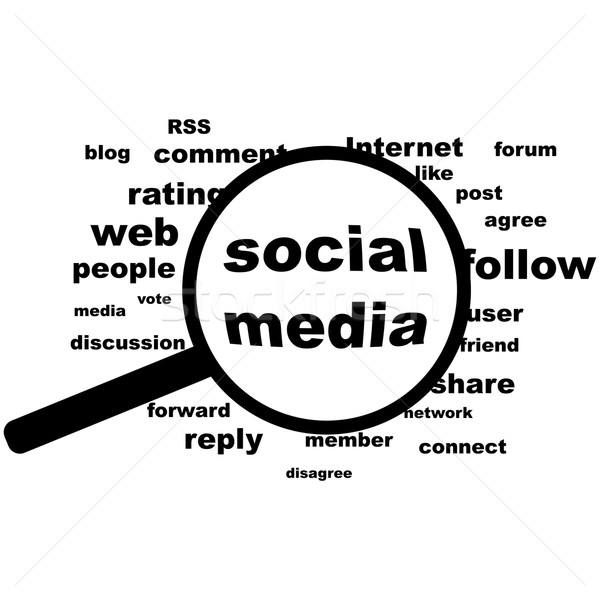 Social media in evidence Stock photo © bruno1998