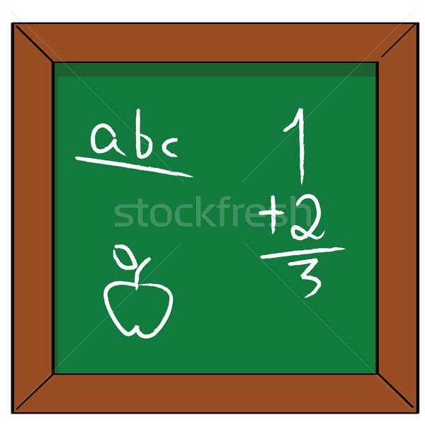 School cartoon illustratie Blackboard fundamenteel Stockfoto © bruno1998