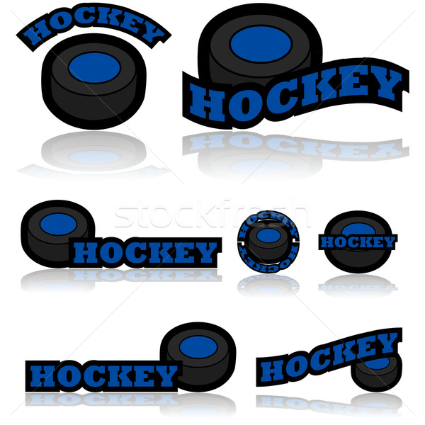 Hockey icons Stock photo © bruno1998
