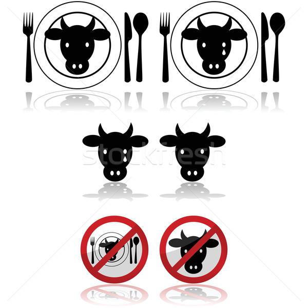 Beef icons Stock photo © bruno1998
