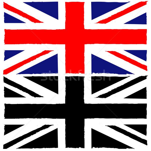 Geschilderd union jack illustratie tonen vlag achtergrond Stockfoto © bruno1998