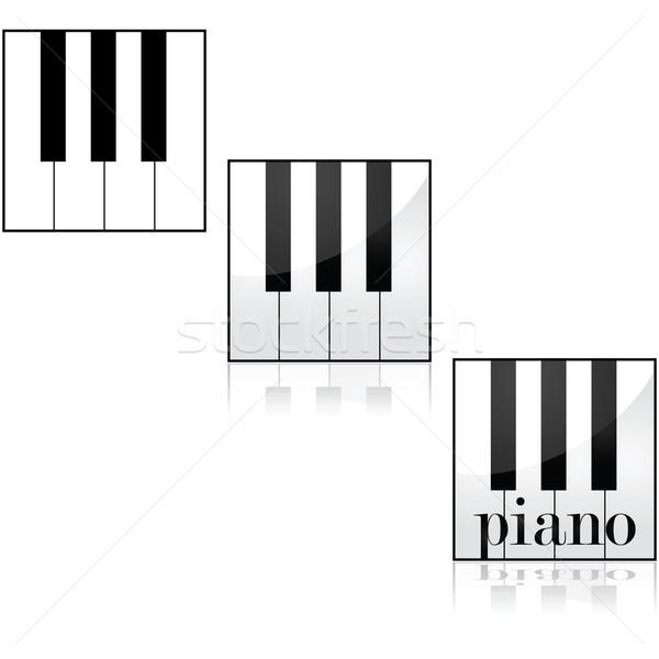 ピアノ アイコン ピアノのキー 異なる ストックフォト © bruno1998