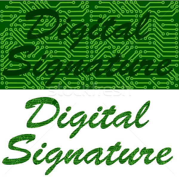 Digital signature Stock photo © bruno1998