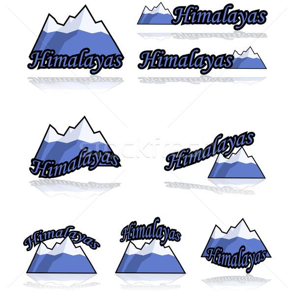 Himalayas icons Stock photo © bruno1998