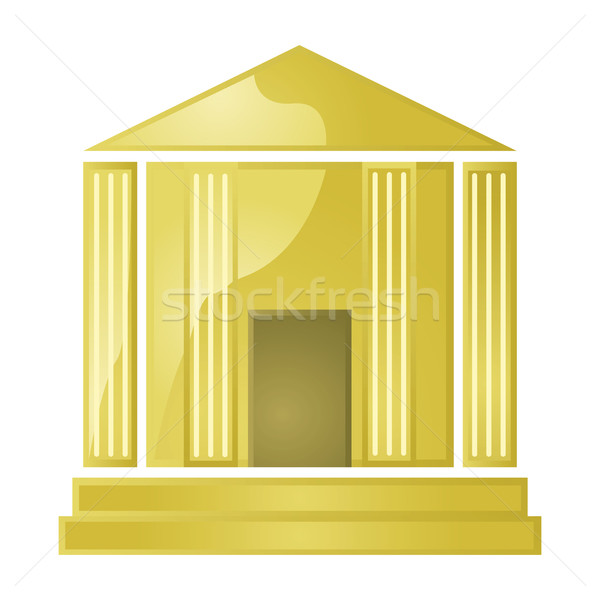Arany bank fényes illusztráció görög stílus Stock fotó © bruno1998