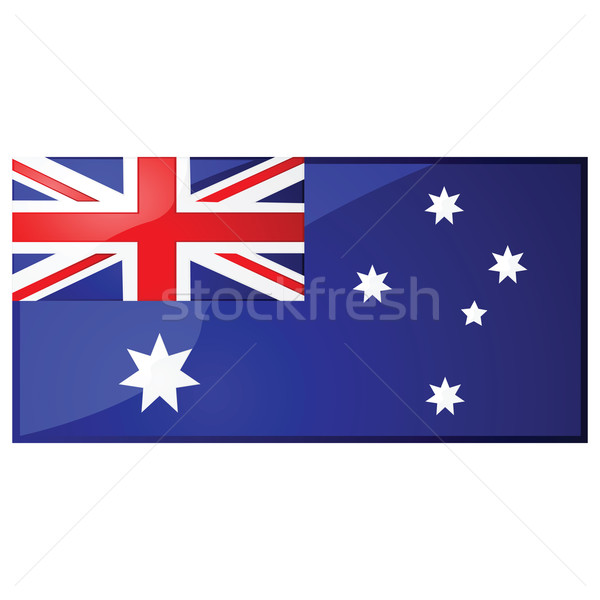 オーストラリア人 フラグ 実例 芸術 星 ストックフォト © bruno1998