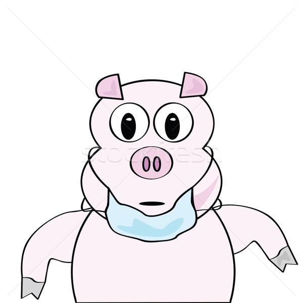 Grippe cartoon illustration porc Photo stock © bruno1998