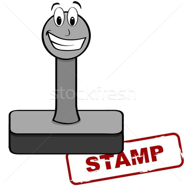 Cartoon stamp Stock photo © bruno1998