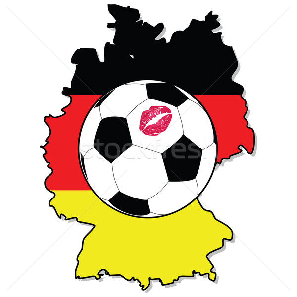 ストックフォト: 女性 · サッカー · ドイツ · 実例 · サッカーボール · 口紅