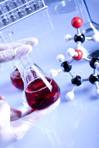 Laboratuvar züccaciye test el tıp Stok fotoğraf © BrunoWeltmann