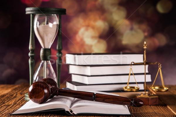 прав правовой Код Весы правосудия студию Сток-фото © BrunoWeltmann