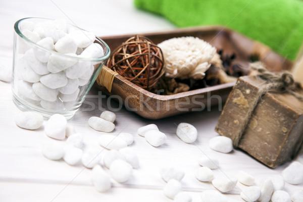 Spa schoonheid aroma therapie studio ontspannen Stockfoto © BrunoWeltmann