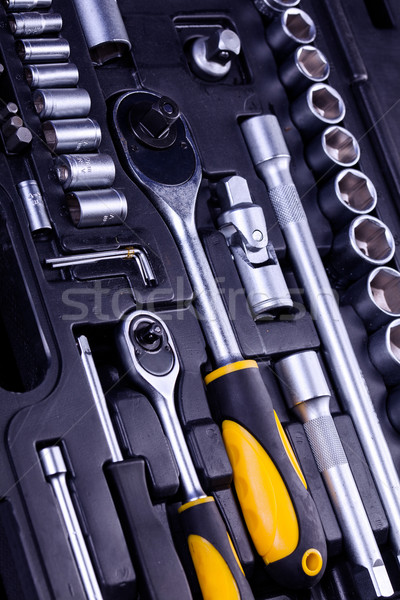 essential tools for everyone. Keys, screws and hammers Stock photo © BrunoWeltmann
