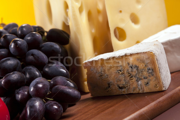 Stockfoto: Kaas · wijn · voedsel · zomer · groep · boerderij