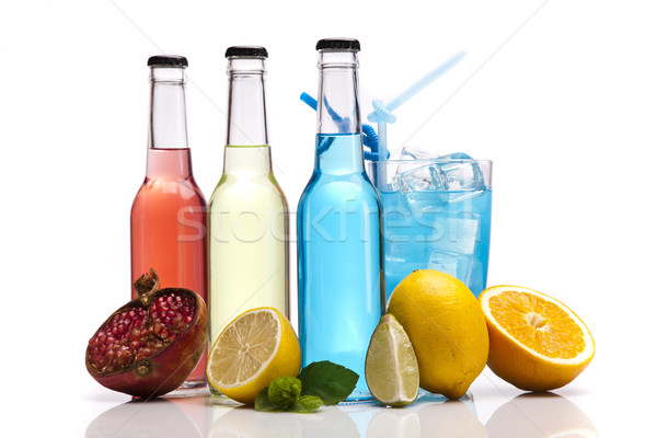 Stock photo: Exotic bottle alcohol cocktail
