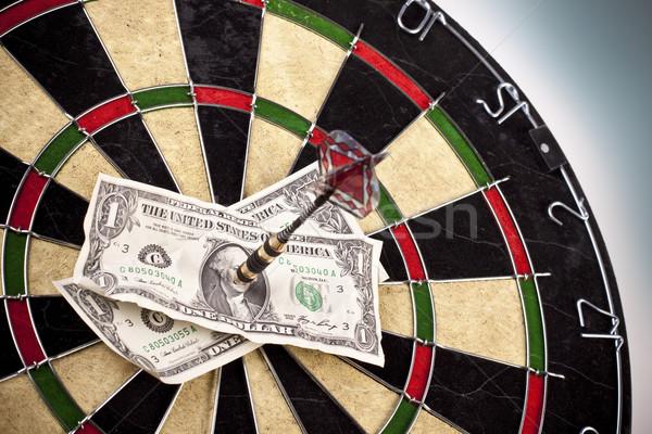 Stockfoto: Dart · spel · werk · baan · pijl
