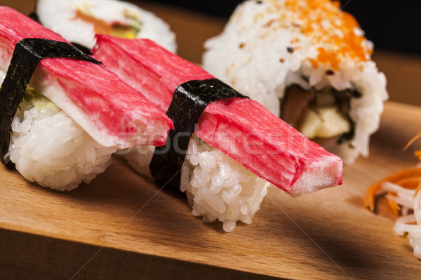 新鮮な 寿司 変動 おいしい 食品 ストックフォト © BrunoWeltmann