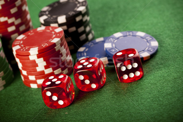 Stock fotó: Kaszinó · pénz · terv · űr · zöld · kék
