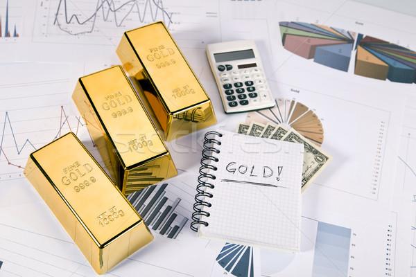 золото баров статистика деньги металл Сток-фото © BrunoWeltmann