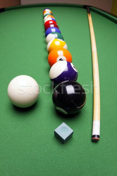 プール ゲーム スポーツ 背景 表 緑 ストックフォト © BrunoWeltmann