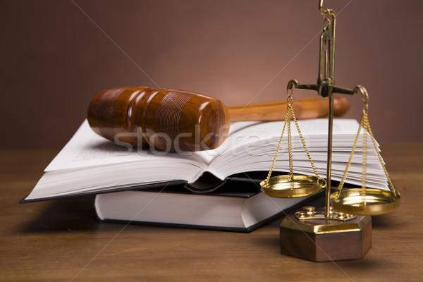 прав Весы правосудия домой фон интерьер Сток-фото © BrunoWeltmann