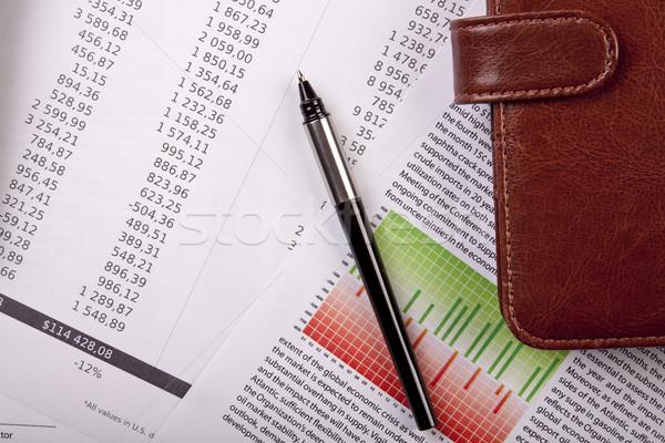 Negócio escritório papel caneta casa gráfico Foto stock © BrunoWeltmann