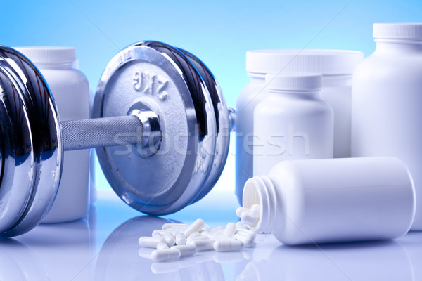Food Supplements, nutrition concept Stock photo © BrunoWeltmann