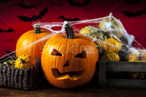 Scary halloween pumpkin Stock photo © BrunoWeltmann