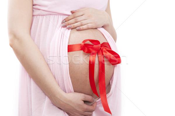 беременная женщина ребенка отлично подарок девушки ребенка Сток-фото © BrunoWeltmann