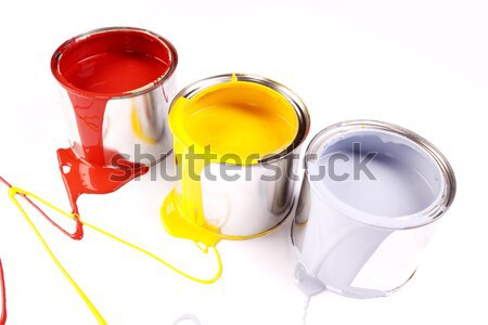 Stock photo: Paints, and paint cans!