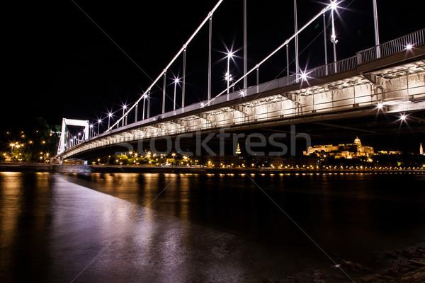 Budapest Chain Bridge Stock photo © BrunoWeltmann