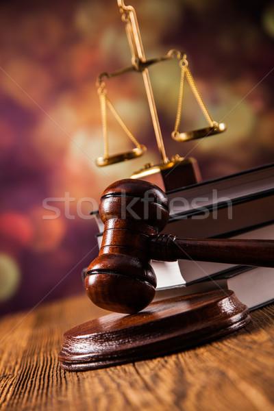 Törvény jogi kód mérleg igazság stúdió Stock fotó © BrunoWeltmann