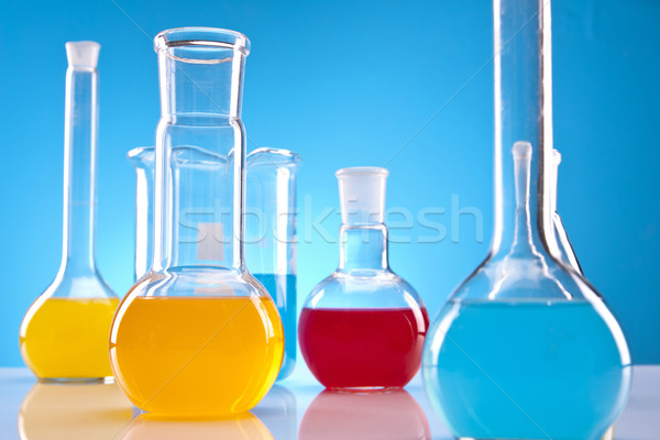 Colorful fluids in laboratory Stock photo © BrunoWeltmann