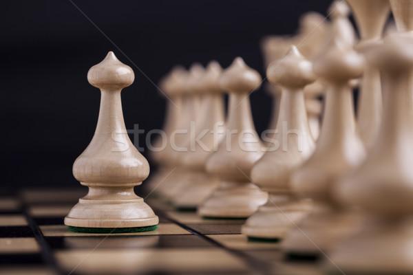 チェスの駒 競争 ビジネス スポーツ 成功 ストックフォト © BrunoWeltmann