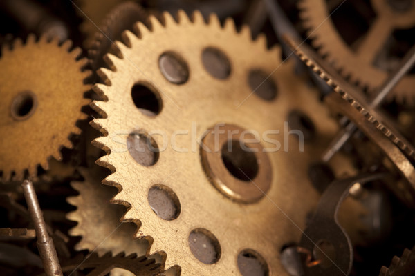 Gears wheel system Stock photo © BrunoWeltmann