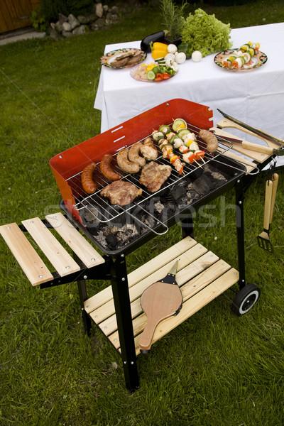 Grill tempo barbecue giardino alimentare party Foto d'archivio © BrunoWeltmann