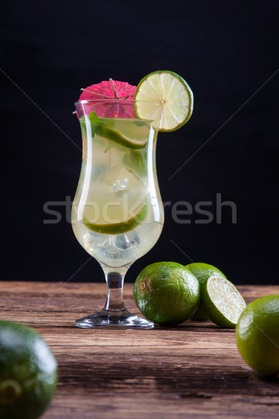 Mojito on black Stock photo © BrunoWeltmann