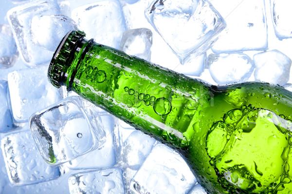 Zdjęcia stock: Zimno · piwa · lodu · szkła · pęcherzyki · alkoholu