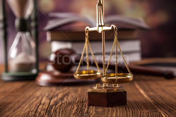 Recht juridische code schalen justitie studio Stockfoto © BrunoWeltmann